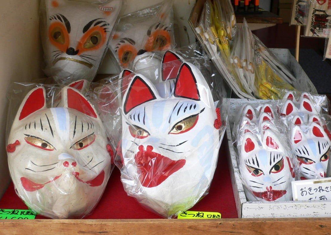 京都・伏見稲荷大社の「狐の面の種類・効果(ご利益)・値段」