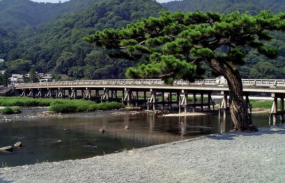 京都・嵐山(渡月橋)
