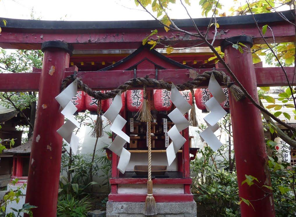京都・新京極にある「錦天満宮・日の出稲荷」奴禰鳥居
